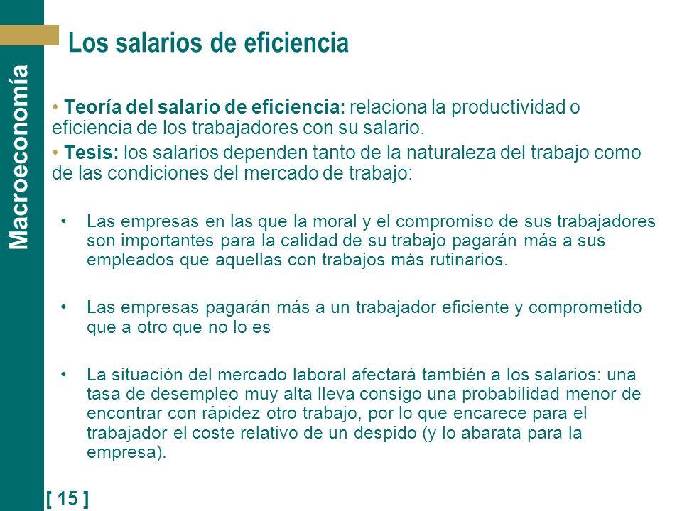Los salarios de eficiencia