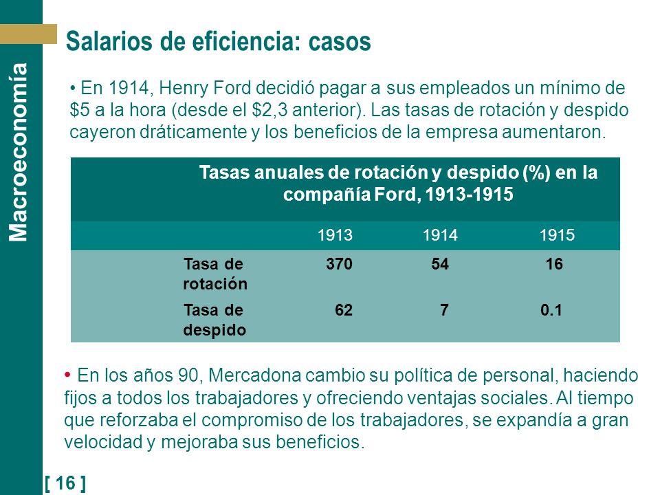 Salarios de eficiencia: casos