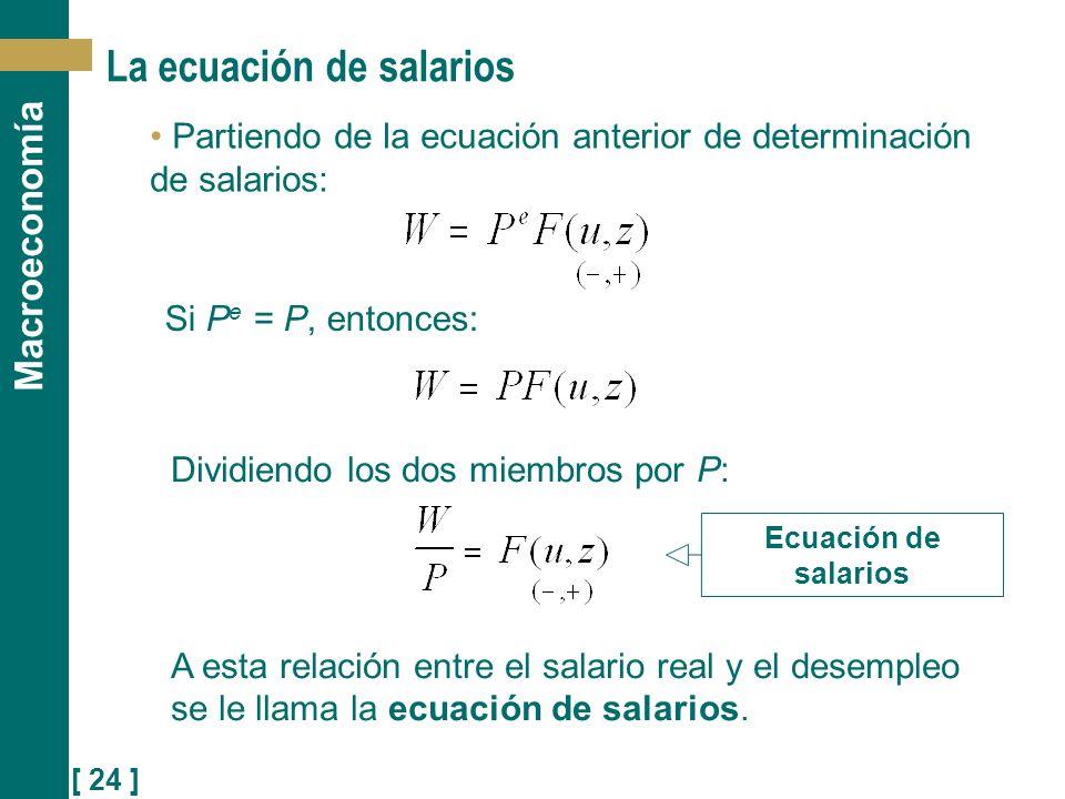 La ecuación de salarios