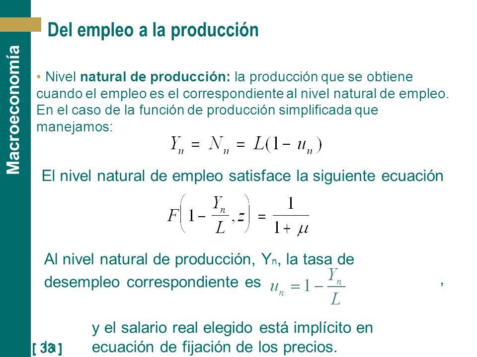 Del empleo a la producción