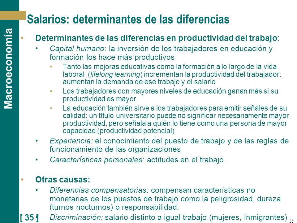 Salarios: determinantes de las diferencias