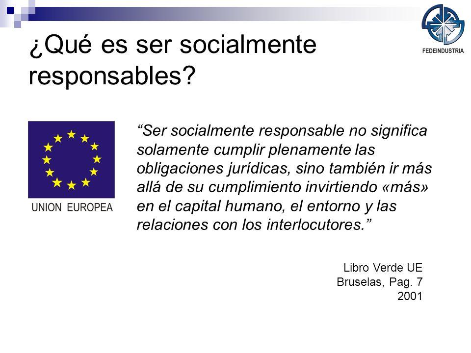¿Qué es ser socialmente responsables