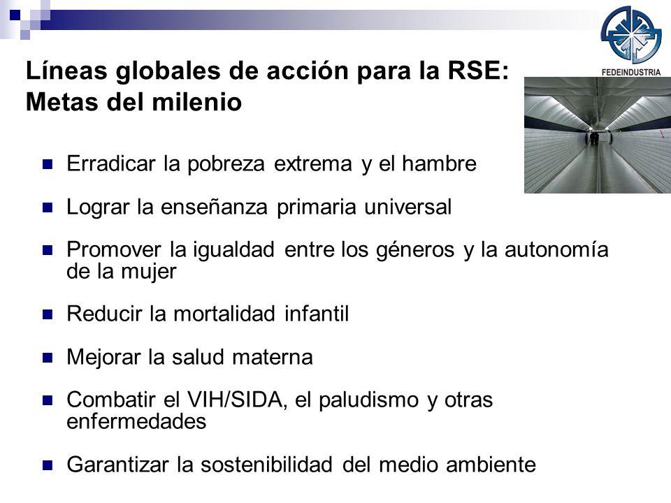Líneas globales de acción para la RSE: Metas del milenio