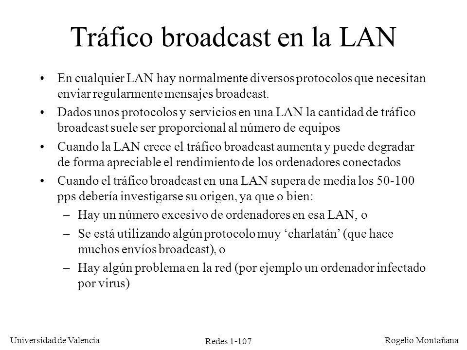 Tráfico broadcast en la LAN