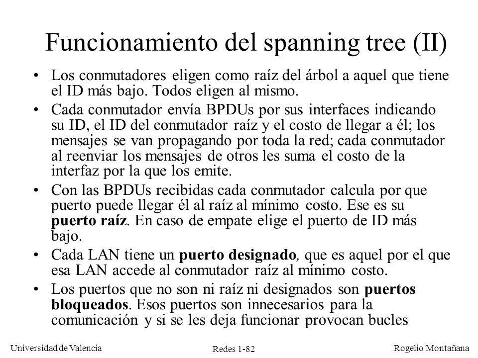 Funcionamiento del spanning tree (II)