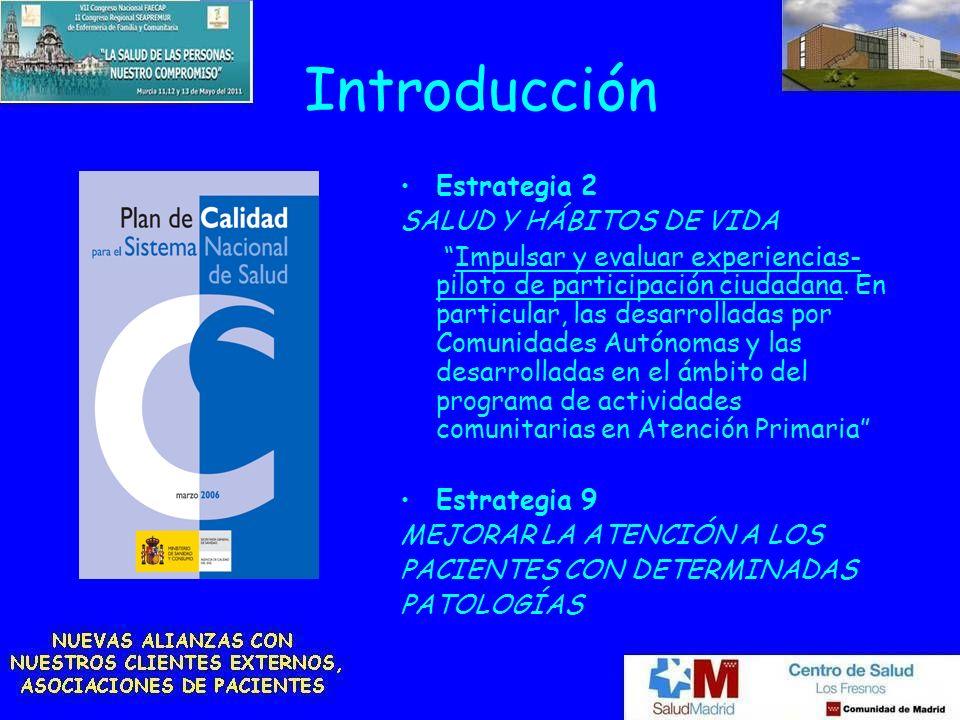 Introducción Estrategia 2 SALUD Y HÁBITOS DE VIDA