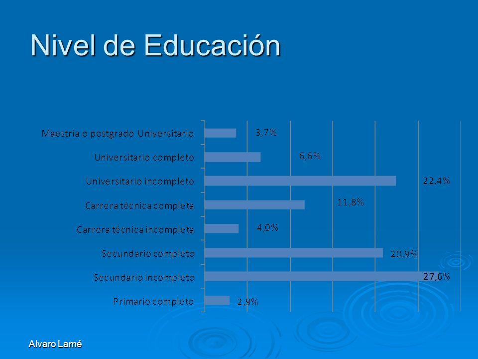 Nivel de Educación Alvaro Lamé