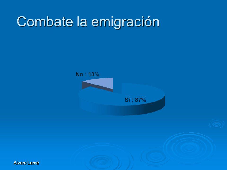 Combate la emigración Alvaro Lamé