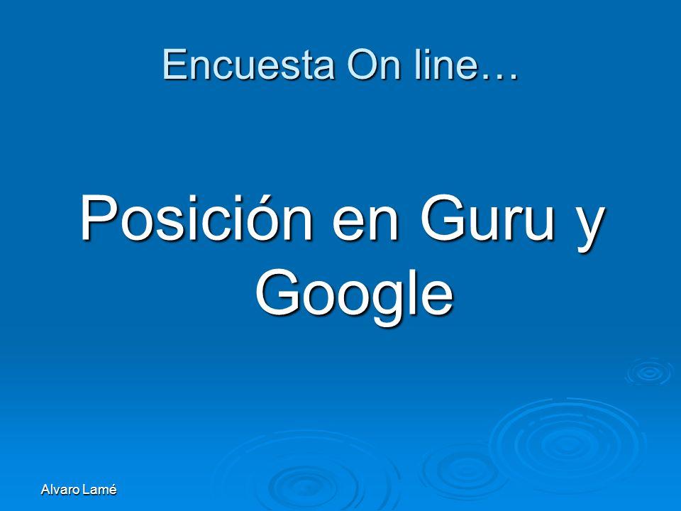 Posición en Guru y Google