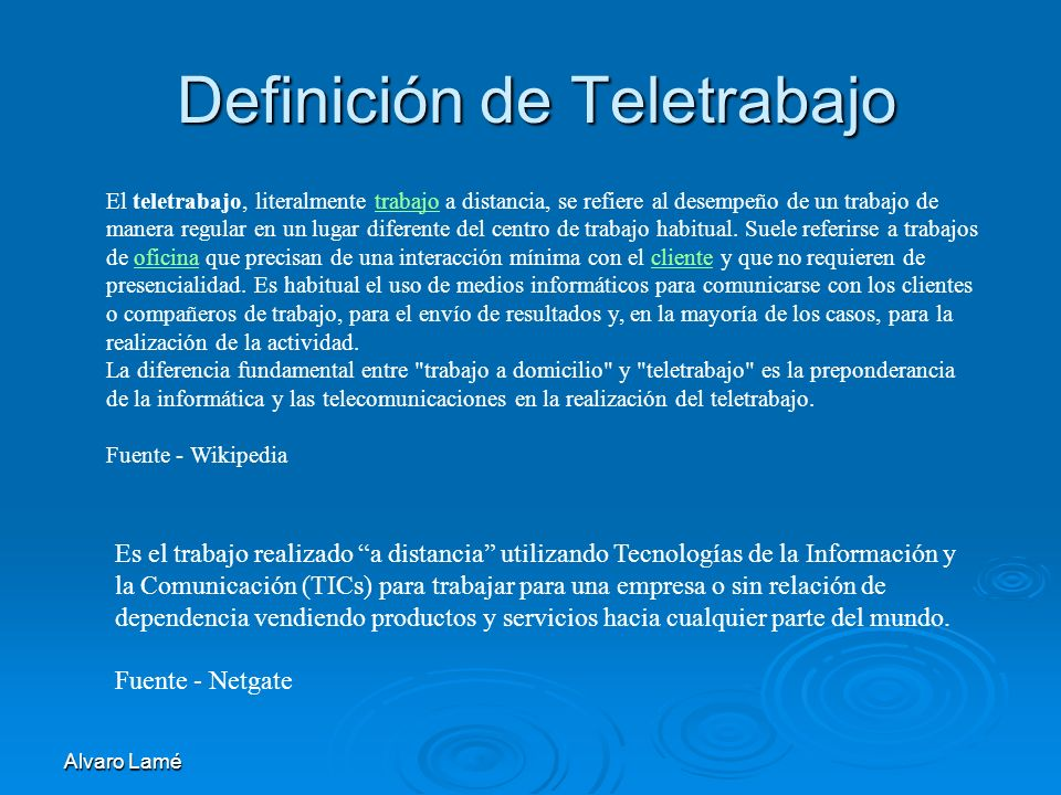 Definición de Teletrabajo