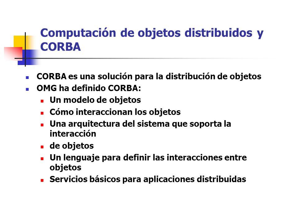 Computación de objetos distribuidos y CORBA