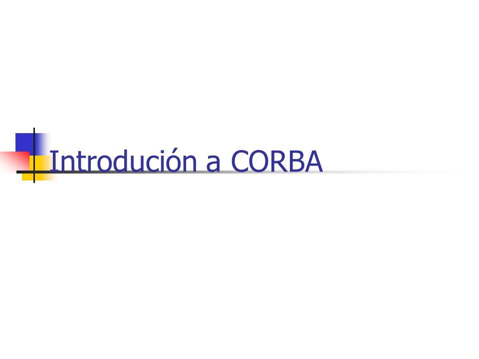 Introdución a CORBA