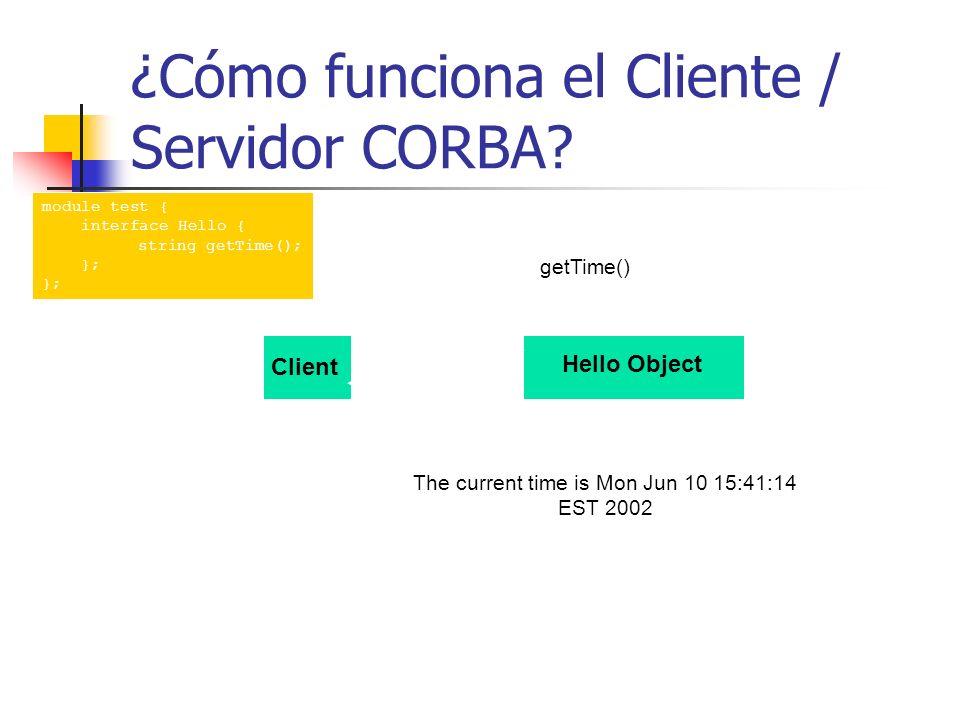 ¿Cómo funciona el Cliente / Servidor CORBA