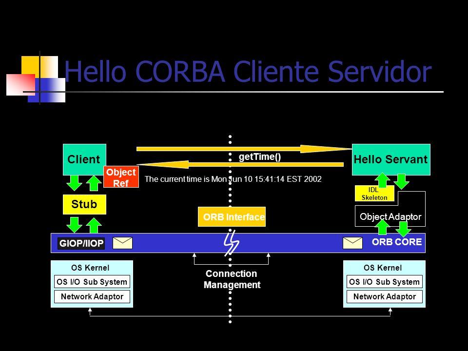 Hello CORBA Cliente Servidor