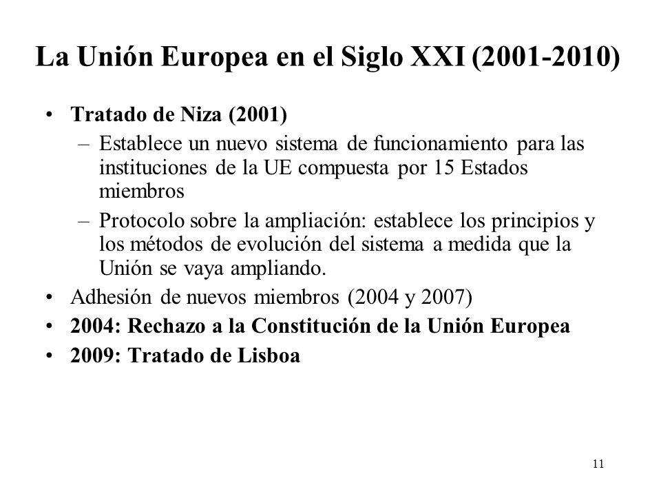 La Unión Europea en el Siglo XXI (2001-2010)