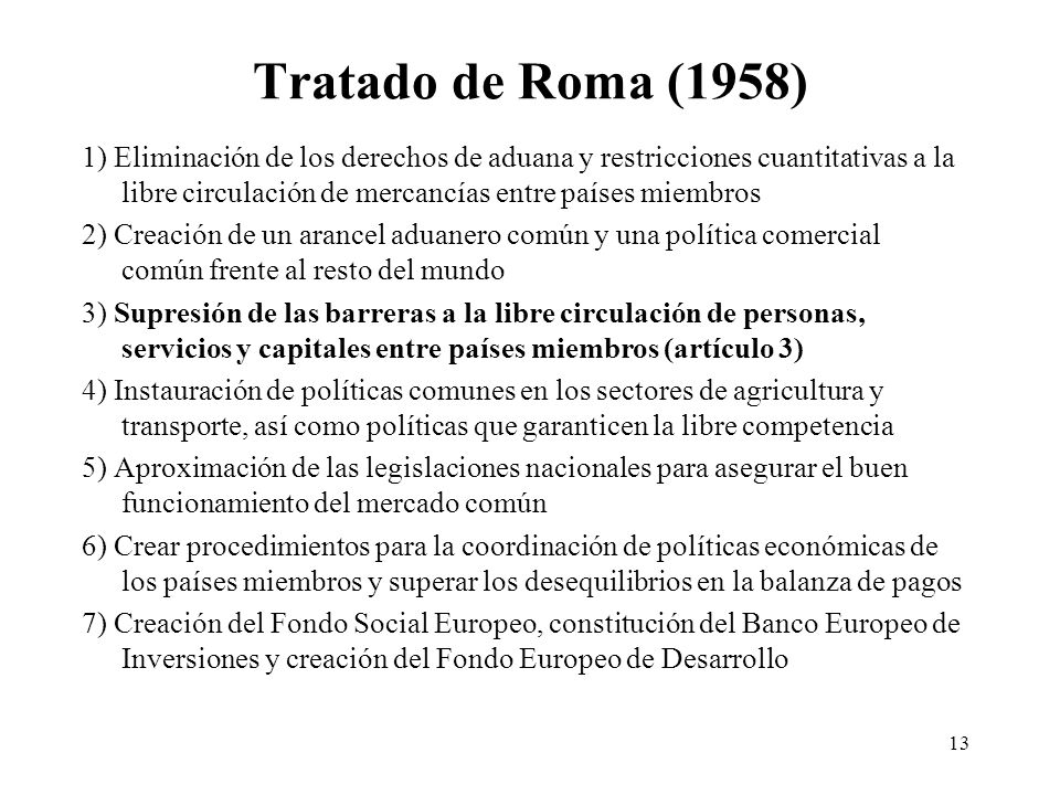 Tratado de Roma (1958)