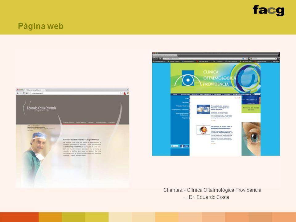 Página web Clientes: - Clínica Oftalmológica Providencia - Dr. Eduardo Costa
