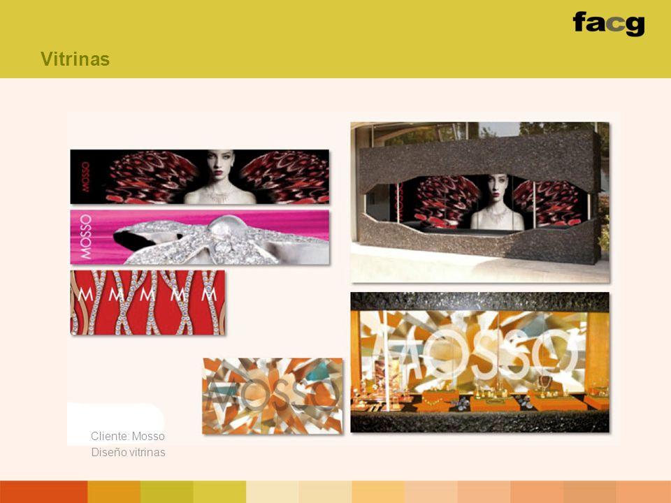 Vitrinas Cliente: Mosso Diseño vitrinas