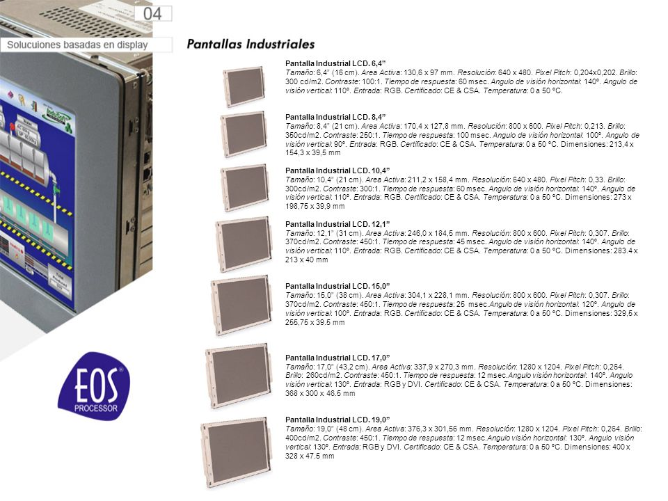 Pantalla Industrial LCD. 6,4