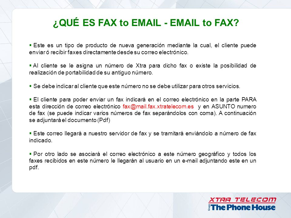 ¿QUÉ ES FAX to EMAIL - EMAIL to FAX