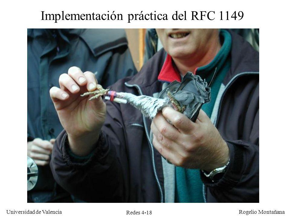 Implementación práctica del RFC 1149