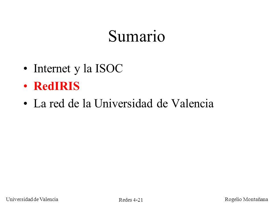 Sumario Internet y la ISOC RedIRIS