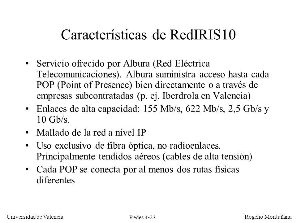 Características de RedIRIS10