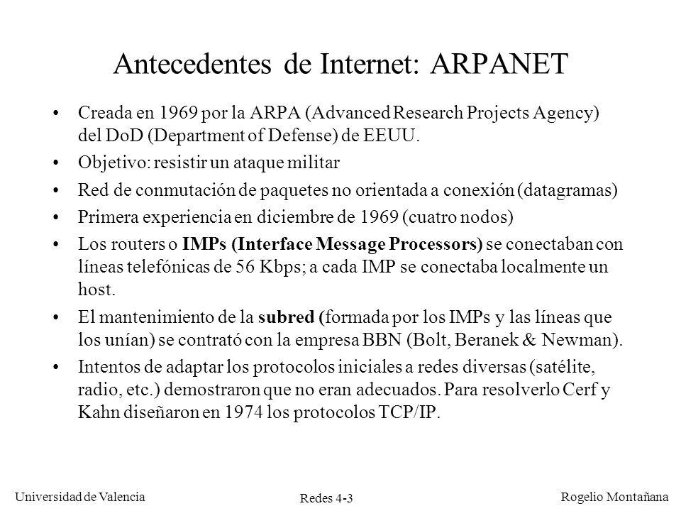 Antecedentes de Internet: ARPANET