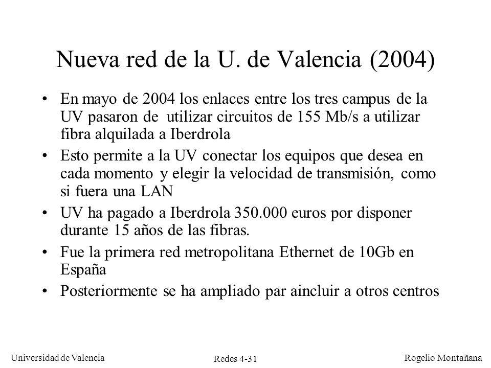 Nueva red de la U. de Valencia (2004)