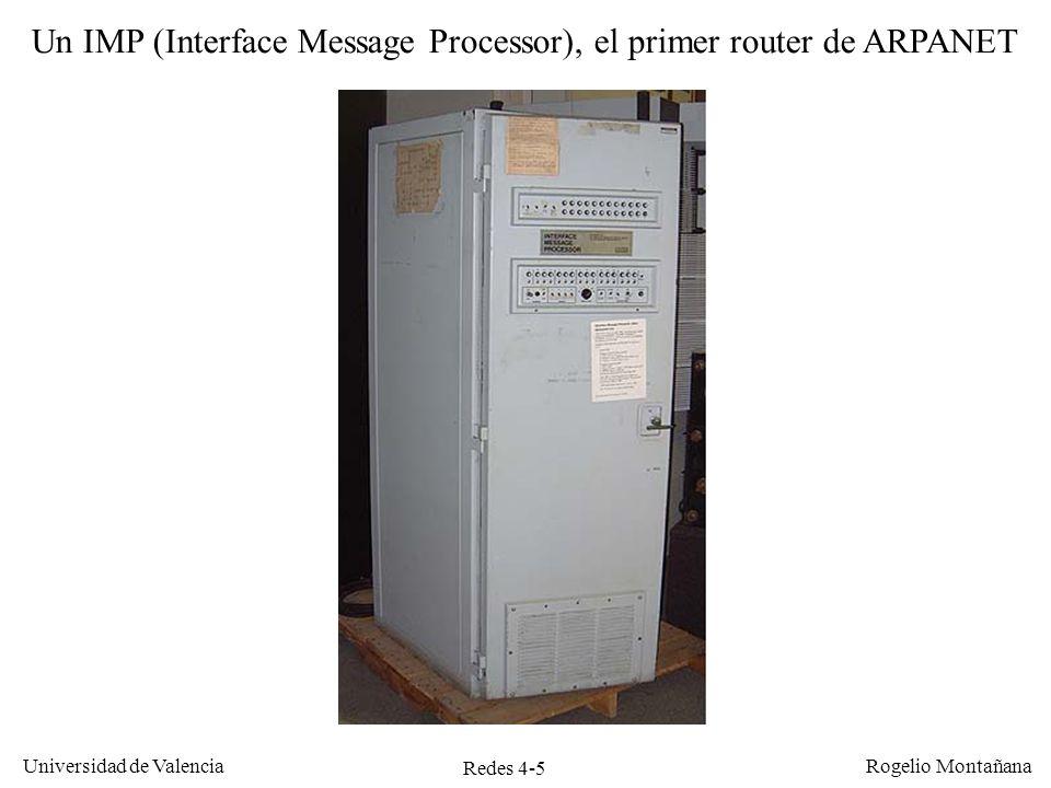 Un IMP (Interface Message Processor), el primer router de ARPANET