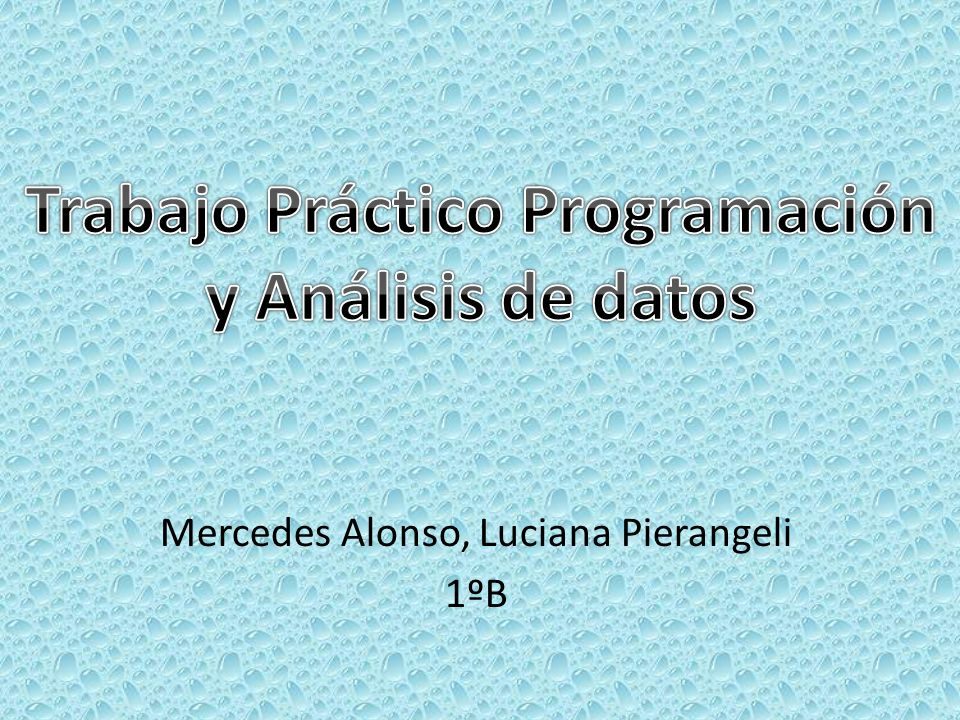 Mercedes Alonso, Luciana Pierangeli 1ºB