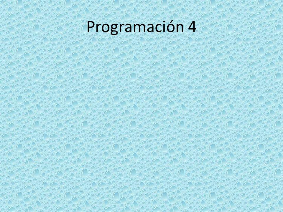 Programación 4