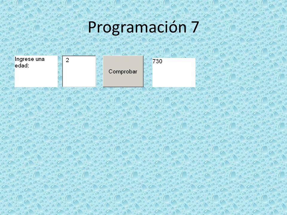 Programación 7