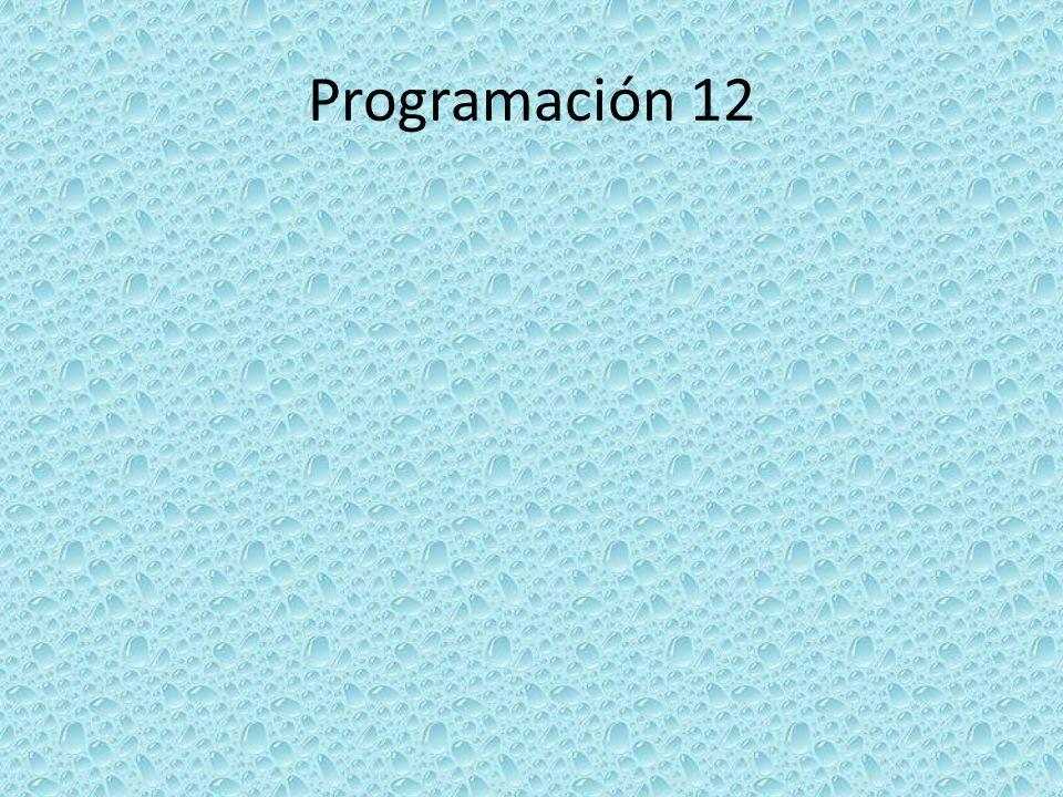 Programación 12