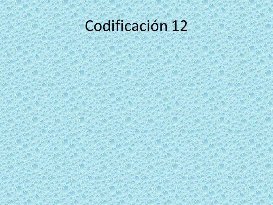 Codificación 12
