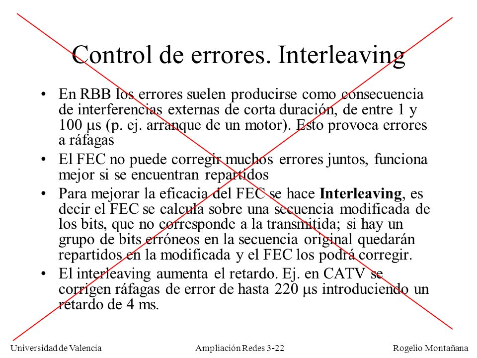 Control de errores. Interleaving