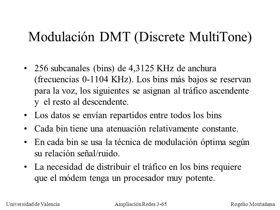 Modulación DMT (Discrete MultiTone)