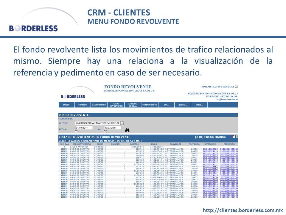 CRM - CLIENTES MENU FONDO REVOLVENTE.