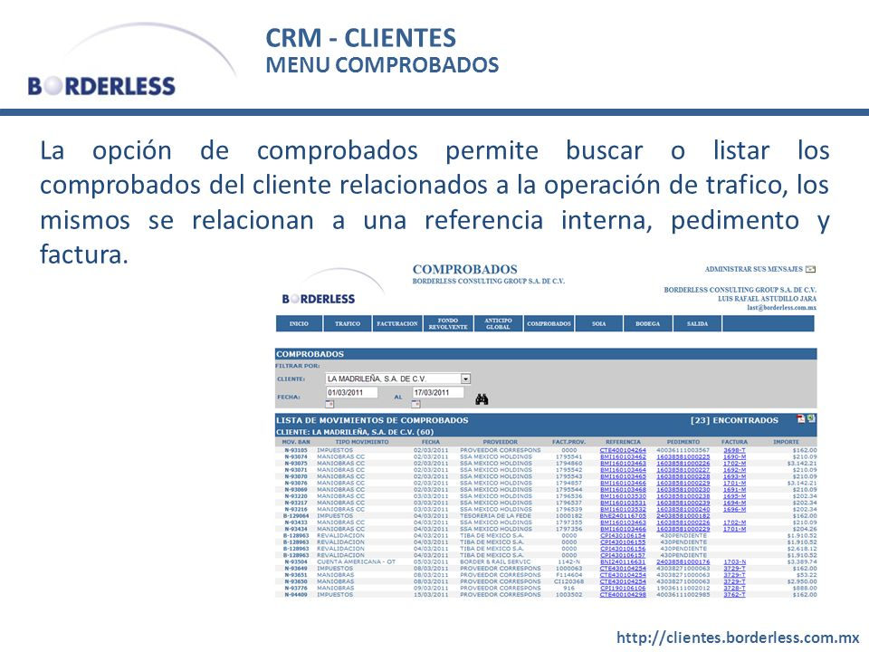 CRM - CLIENTES MENU COMPROBADOS.