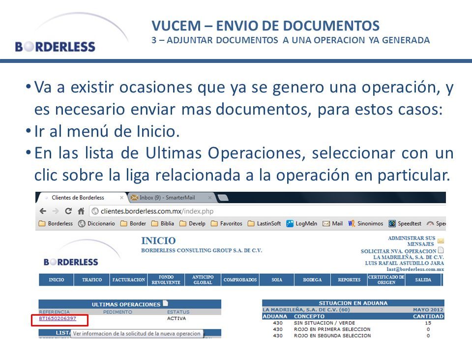 VUCEM – ENVIO DE DOCUMENTOS
