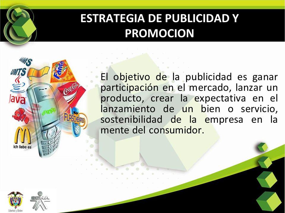 ESTRATEGIA DE PUBLICIDAD Y PROMOCION