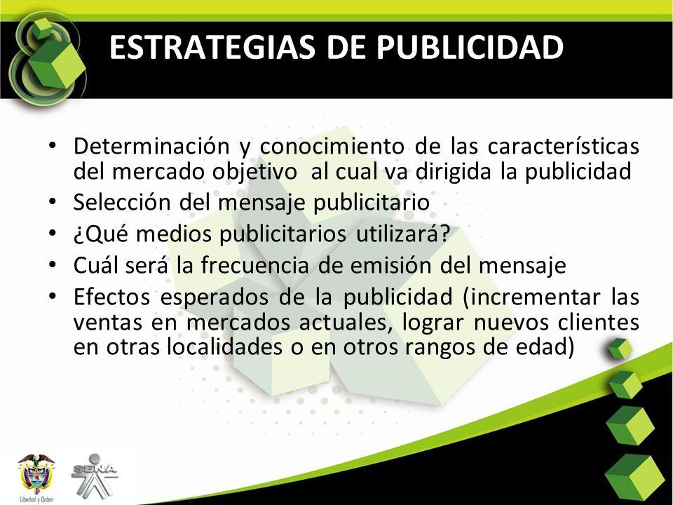 ESTRATEGIAS DE PUBLICIDAD