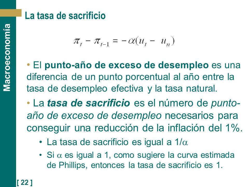 La tasa de sacrificio