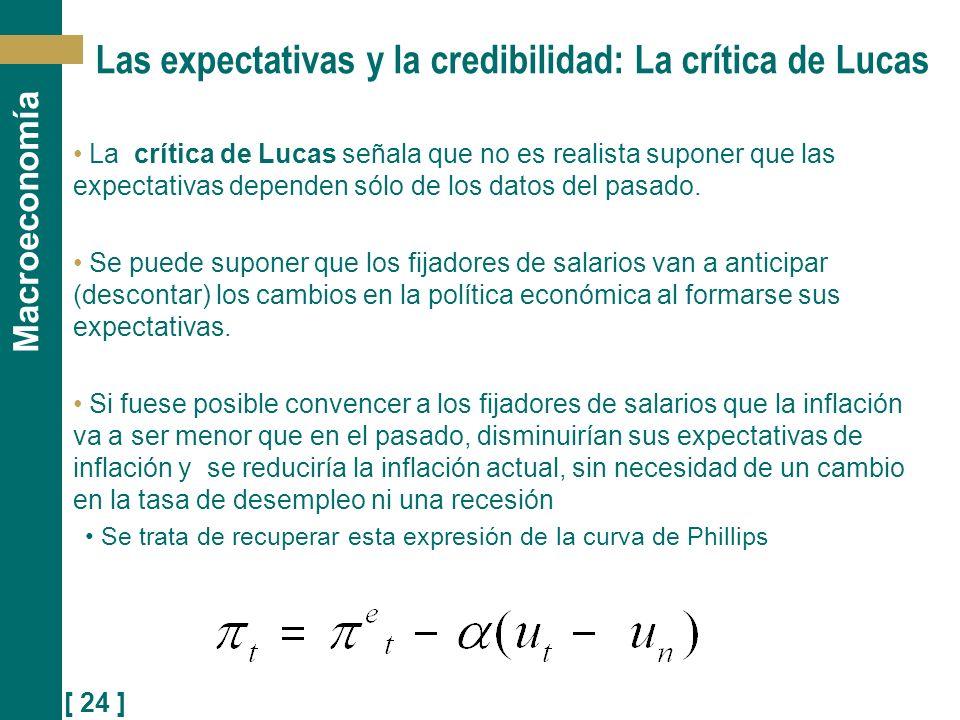 Las expectativas y la credibilidad: La crítica de Lucas