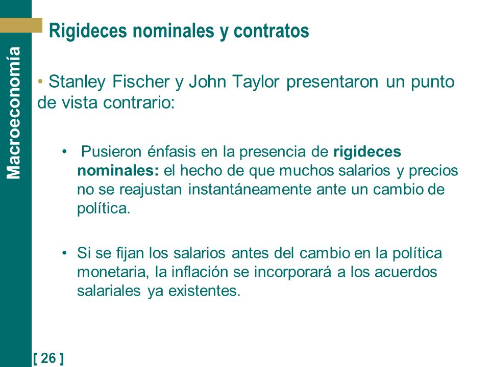 Rigideces nominales y contratos
