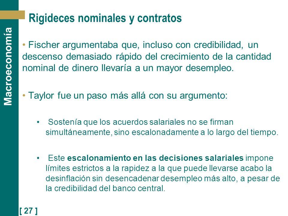 Rigideces nominales y contratos