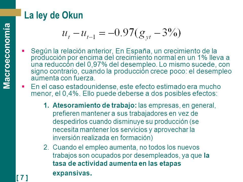 La ley de Okun