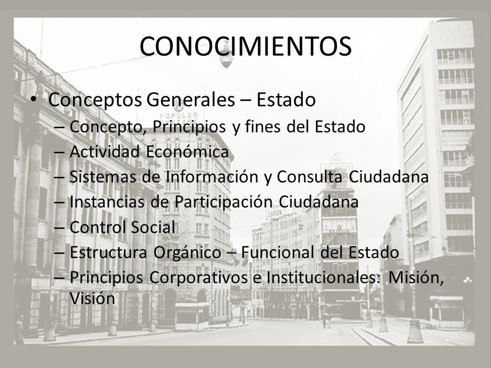 CONOCIMIENTOS Conceptos Generales – Estado