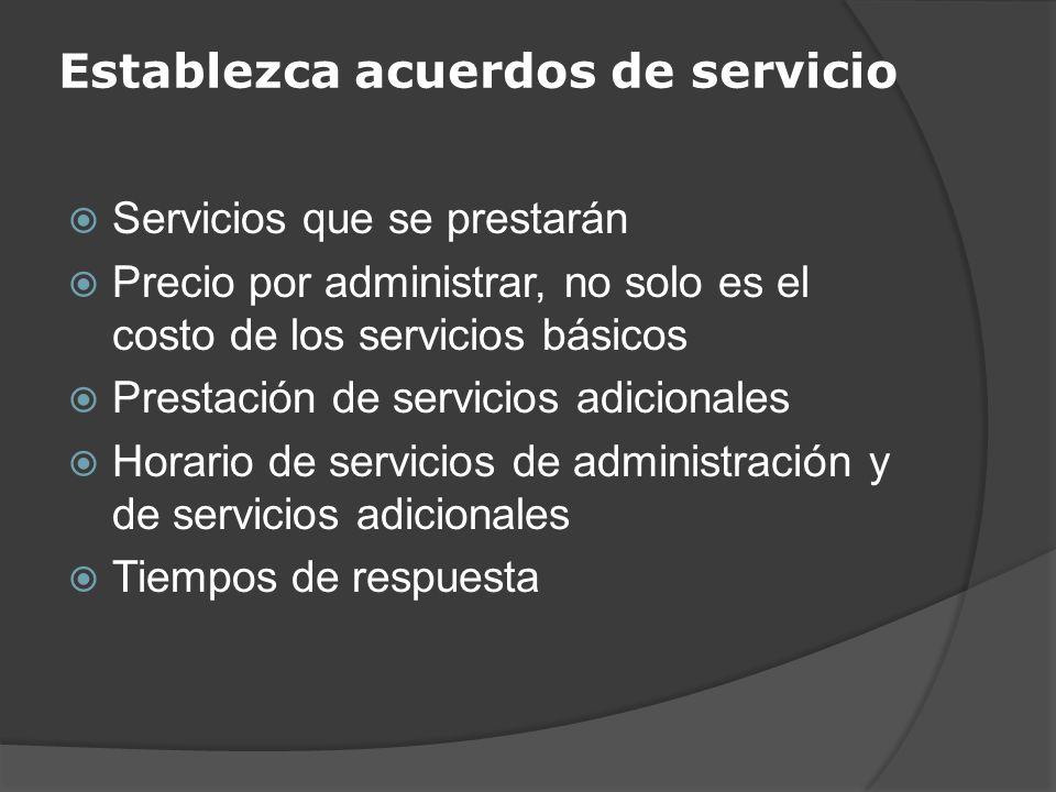 Establezca acuerdos de servicio