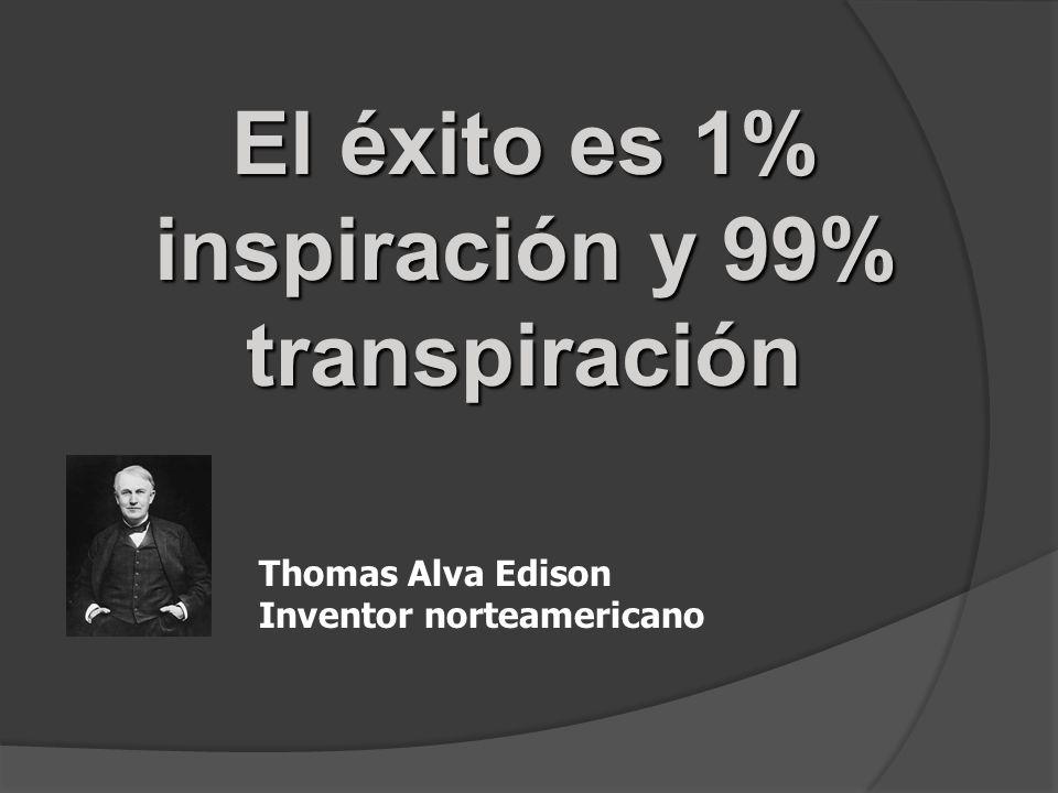 El éxito es 1% inspiración y 99% transpiración